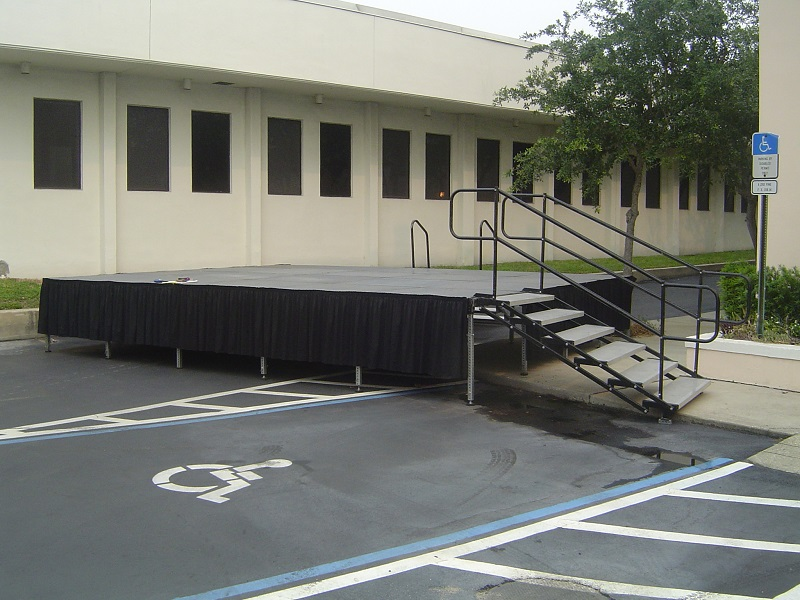 Outdoor stage with stairs