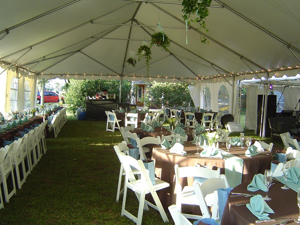 20x40 Frame Tent_Linens_Dishes_Chairs_Tables