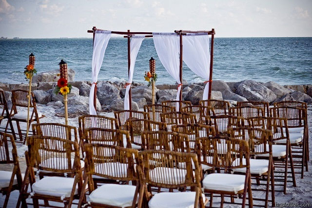 Bamboo Chairs Sunset Beach