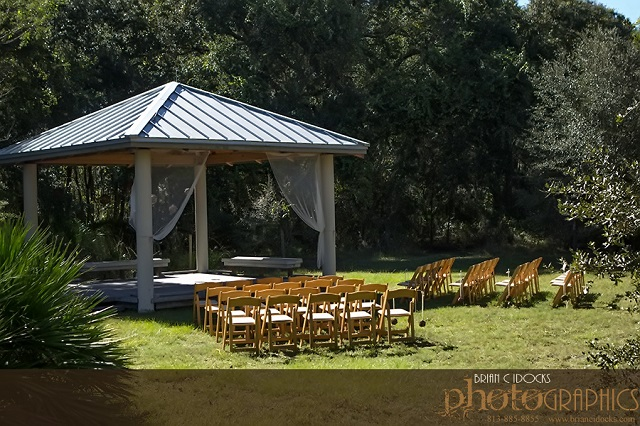 Natural Wood Outdoor Ceremony