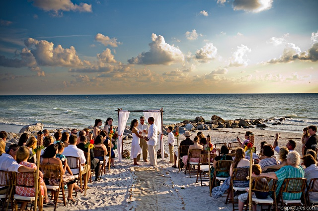 Sunset Beach Wedding Ceremony