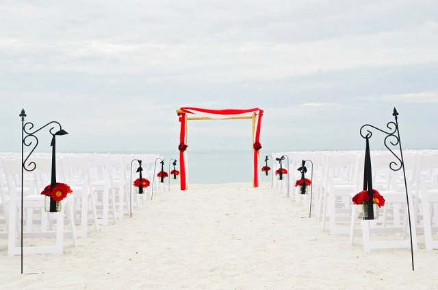 White Garden Beach Ceremony