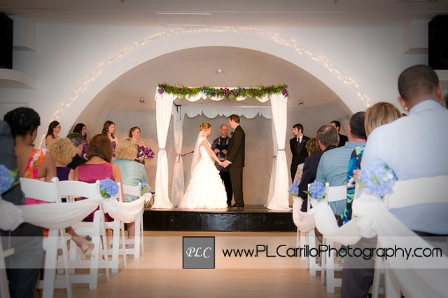 White Garden Indoor Ceremony