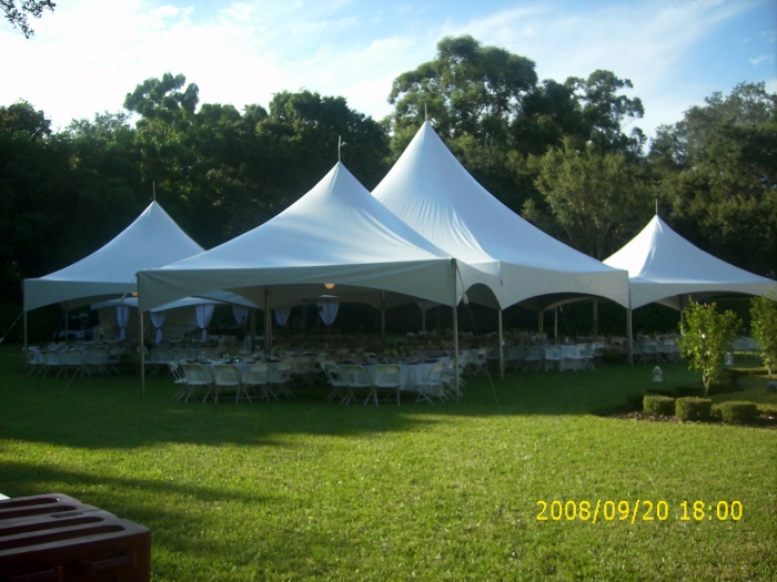 Backyard Reception with Tents_Tables_Chairs_Linens