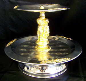 Where to find 2 tier SS Gold serving tray in St. Petersburg