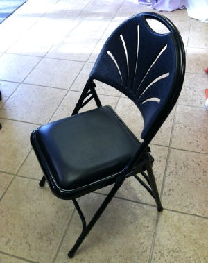 Where to find Black Padded Metal Folding Chair in St. Petersburg