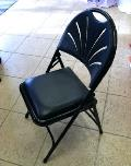 Rental store for Padded Metal Folding Chair - Black in St. Petersburg FL