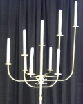 Where to rent CANDELABRA-Brass Modern-9 lite in St Petersburg FL