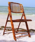 Rental store for Bamboo Folding Chair in St. Petersburg FL
