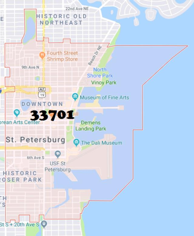 Where to find DELIVERY 33701, St. Petersburg in St. Petersburg