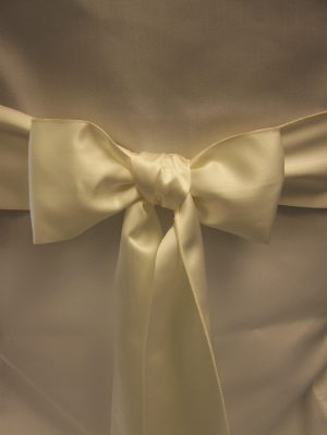 Where to find Sash-Ivory Matte Satin in St. Petersburg