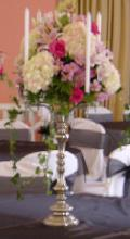 Rental store for Silver Candelabra -Tall w flower bowl in St. Petersburg FL