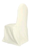 Rental store for Chair Cover - Ivory in St. Petersburg FL