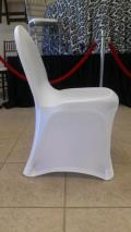 Rental store for Chair cover-White Spandex in St. Petersburg FL