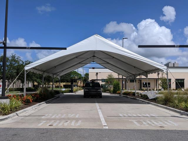 Where to find Canopy-30 x 45  Drive-thru in St. Petersburg